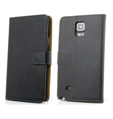 free shipping 7a2fd 5caac SAMSUNG GALAXY NOTE 4 LEATHER WALLET CASE BLACK