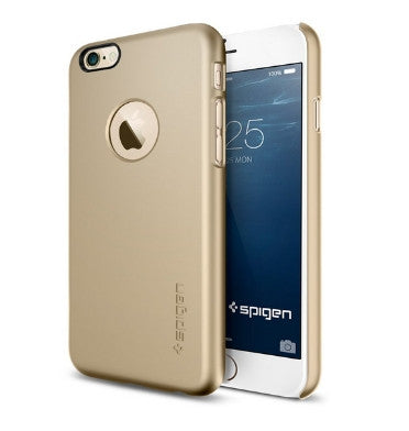 IPHONE 6 PLUS PREMIUM ULTRA SLIM CASE WITH APPLE LOGO VIEW CHAMPAGNE GOLD | SPIGEN