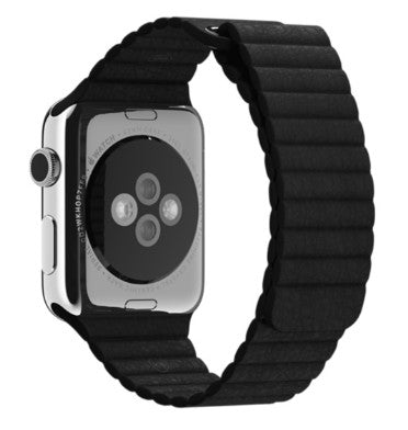 APPLE WATCH BAND 42mm BLACK LEATHER LOOP