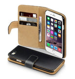 IPHONE 6 PREMIUM WALLET CASE BLACK WITH TAN INTERIOR | TERRAPIN