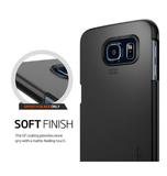 SAMSUNG GALAXY S6 PREMIUM SLIM THIN FIT CASE SMOOTH MATTE BLACK | SPIGEN