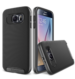 SAMSUNG GALAXY S6 PREMIUM AIR SPACE CUSHION CASE BLACK/SILVER | VERUS