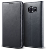 SAMSUNG GALAXY S6 PREMIUM SLIM SOFT LEATHER WALLET FLIP CASE WARM GRAY | VERUS
