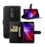 ASUS ZENFONE 2 FLIP WALLET CASE WITH CARD SLOT BLACK
