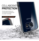 SAMSUNG GALAXY S6 EDGE PREMIUM AIR CUSHION HYBRID CASE GUNMETAL | SPIGEN