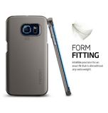 SAMSUNG GALAXY S6 EDGE PREMIUM SLIM THIN FIT CASE GUNMETAL | SPIGEN