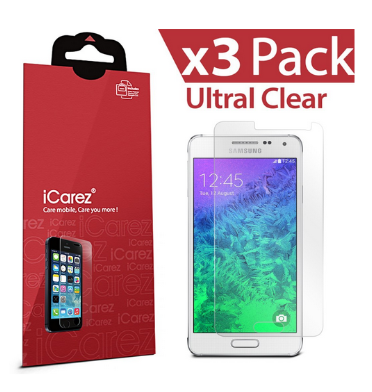 SAMSUNG GALAXY ALPHA SCREEN PROTECTOR HD 3PACK | I-CAREZ