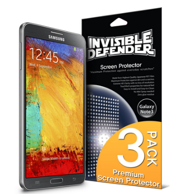 SAMSUNG GALAXY NOTE 3 SCREEN PROTECTOR HD 3PACK | INVISIBLE DEFENDER