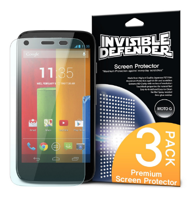 MOTO G SCREEN PROTECTOR HD 3PACK | INVISIBLE DEFENDER