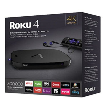 ROKU 4 [4400R] 4K UHD STREAMING MEDIA PLAYER