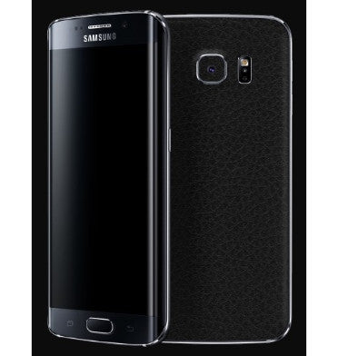 SAMSUNG GALAXY S6 EDGE PREMIUM 3M CARBON FIBRE BACK SKIN BLACK LEATHER | DBRAND