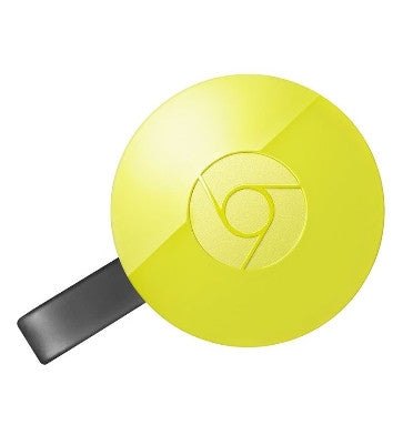 GOOGLE CHROMECAST 2 HDMI STREAMING MEDIA PLAYER (2015) LEMON