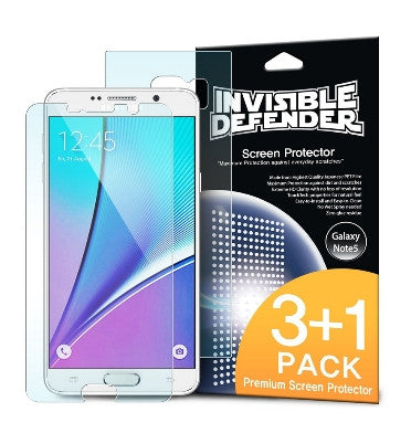 SAMSUNG GALAXY NOTE 5 SCREEN PROTECTOR HD 4PACK | INVISIBLE DEFENDER