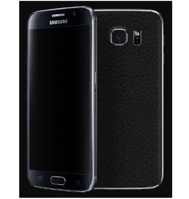 SAMSUNG GALAXY S6 PREMIUM 3M CARBON FIBRE BACK SKIN BLACK LEATHER | DBRAND