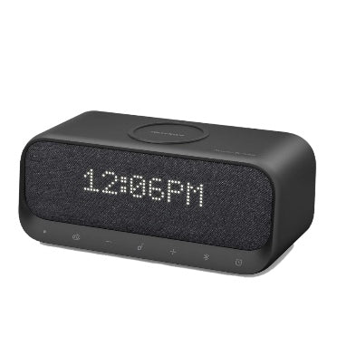 ANKER SOUNDCORE WAKEY BLUETOOTH SPEAKER WITH ALARM CLOCK/RADIO/WHITE NOISE/WIRELESS CHARGER BLACK