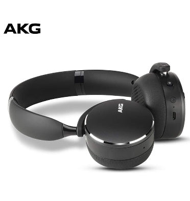 AKG Y500 ON-EAR FOLDABLE WIRELESS BLUETOOTH HEADPHONES BLACK