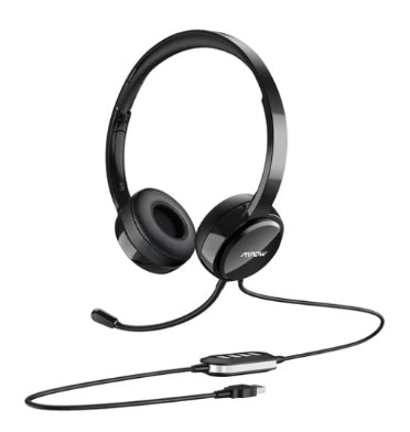 MPOW 071 LIGHTWEIGHT WIRED HEADSET WITH MICROPHONE BLACK