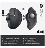 LOGITECH MX ERGO WIRELESS TRACKBALL MOUSE GRAPHITE