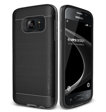 SAMSUNG GALAXY S7 PREMIUM SLIM FIT HEAVY DUTY PRO SHIELD CASE SILVER / BLACK | VERUS
