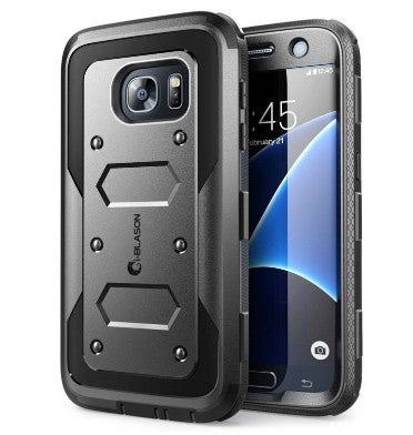 SAMSUNG GALAXY S7 ARMORBOX FULL BODY PROTECTIVE CASE WITH BUILT-IN SCREEN PROTECTOR BLACK | I-BLASON