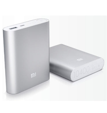 XIAOMI 10000mAh USB PORTABLE POWERBANK CHARGER SILVER