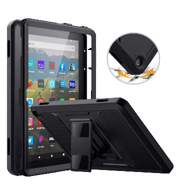 "AMAZON FIRE HD 8"" PLUS TABLET (2020) FULL BODY RUGGED PROTECTIVE CASE BLACK 