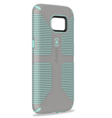 SAMSUNG GALAXY S7 EDGE SPECK CANDYSHELL MILITARY-GRADE PROTECTIVE CASE GRAY/ALOE