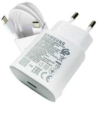 SAMSUNG GALAXY 25W USB-C SUPER FAST CHARGER & CABLE 100CM WHITE