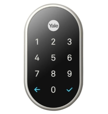 GOOGLE NEST x YALE LOCK SATIN NICKEL