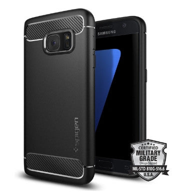 SAMSUNG GALAXY S7 PREMIUM RUGGED CASE BLACK | SPIGEN