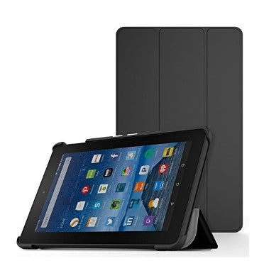 "AMAZON FIRE 7"" TABLET SLIM FOLDING COVER BLACK 