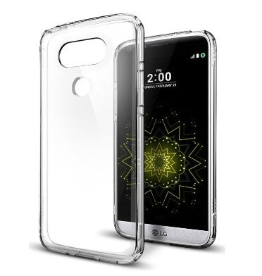 LG G5 PREMIUM AIR CUSHION HYBRID CASE CRYSTAL CLEAR | SPIGEN