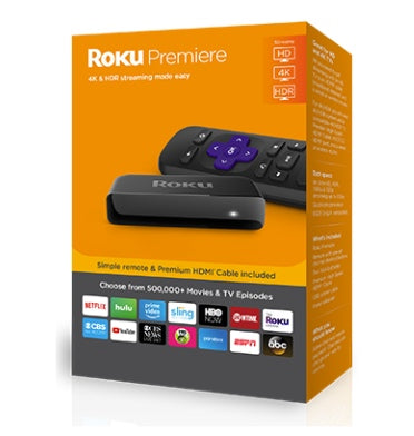 ROKU PREMIERE 4K/HD STREAMING MEDIA PLAYER 3920R (2018)