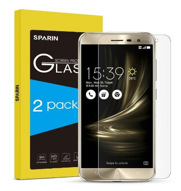 ASUS ZENFONE 3 ZE552KL PREMIUM TEMPERED GLASS SCREEN PROTECTOR 9H 2PK | SPARIN