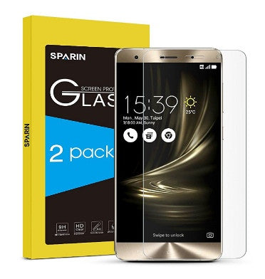 ASUS ZENFONE 3 DELUXE ZS570KL PREMIUM TEMPERED GLASS SCREEN PROTECTOR 9H 2PK | SPARIN