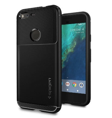 GOOGLE PIXEL XL PREMIUM RUGGED ARMOR CASE BLACK | SPIGEN