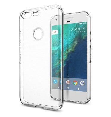 GOOGLE PIXEL XL PREMIUM SLIM LIQUID CRYSTAL CASE CLEAR | SPIGEN