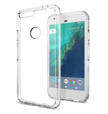 GOOGLE PIXEL PREMIUM AIR CUSHION HYBRID CASE CRYSTAL CLEAR | SPIGEN