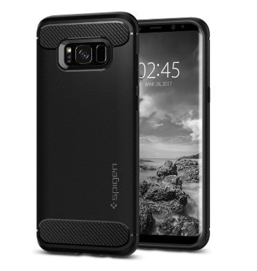 SAMSUNG GALAXY S8+ PLUS PREMIUM RUGGED CASE BLACK | SPIGEN