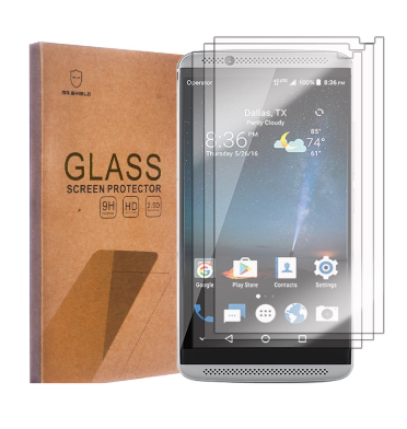 ZTE AXON 7 PREMIUM TEMPERED GLASS SCREEN PROTECTOR 9H 3PACK | MR SHIELD
