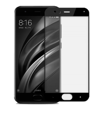XIAOMI MI 6 PREMIUM TEMPERED GLASS SCREEN PROTECTOR BLACK