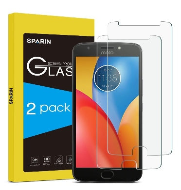 MOTO E4 PLUS PREMIUM TEMPERED GLASS SCREEN PROTECTOR 9H 2PK | SPARIN