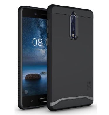NOKIA 8 PREMIUM SLIM DUAL LAYER MERGE CASE MATTE BLACK | TUDIA