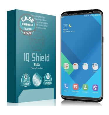 SAMSUNG GALAXY S8 PREMIUM ANTI-GLARE SCREEN PROTECTOR 2PK | IQ SHIELD