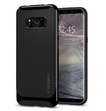 SAMSUNG GALAXY S8+ PLUS PREMIUM NEO HYBRID CASE SHINY BLACK | SPIGEN