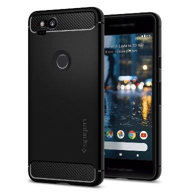 GOOGLE PIXEL 2 PREMIUM RUGGED ARMOR CASE BLACK | SPIGEN