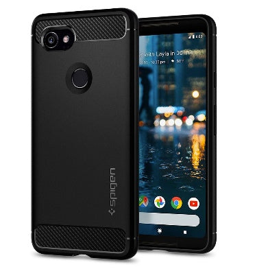 GOOGLE PIXEL 2 XL PREMIUM RUGGED ARMOR CASE BLACK | SPIGEN