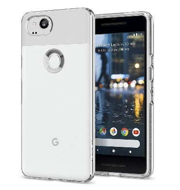 GOOGLE PIXEL 2 PREMIUM SLIM LIQUID CRYSTAL CASE CLEAR | SPIGEN