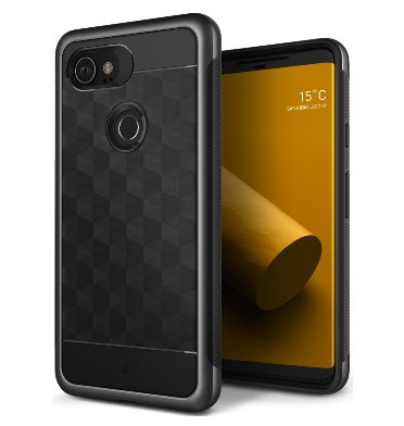 GOOGLE PIXEL 2 XL PREMIUM SLIM DUAL LAYER CASE CHARCOAL GRAY PARALLAX SERIES | CASEOLOGY