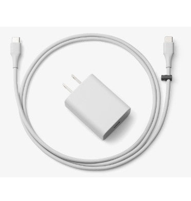 GOOGLE 18W TYPE-C POWER ADAPTER GREY WITH DATA CABLE